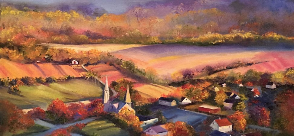 autumn vista painting